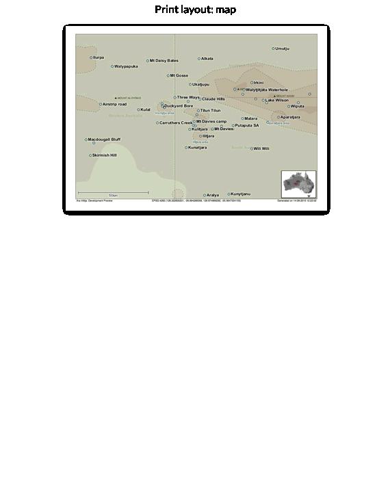 Print layout: map