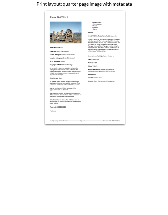 Print layout: quarter page image with metadata