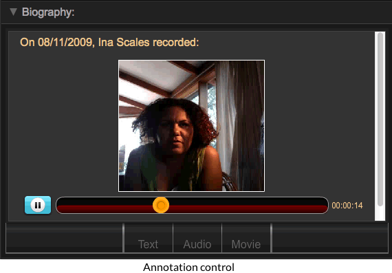 Annotation control video playback